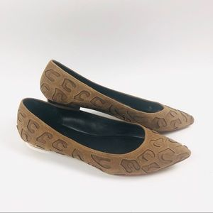 Rebecca Taylor brown suede flats size 10